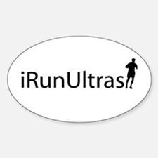 iRunUltras Oval Decal