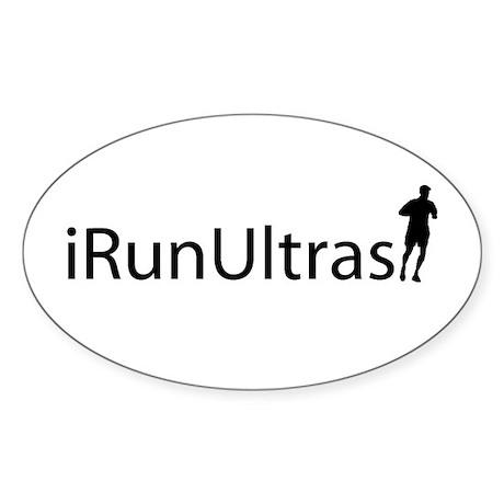 iRunUltras Oval Sticker