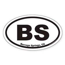 BS Borrego Springs Euro Oval Decal