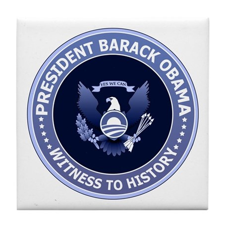 Obama Victory Seal Tile Coaster
