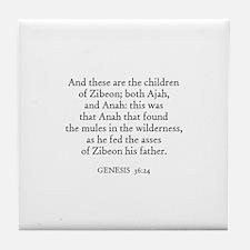 GENESIS  36:24 Tile Coaster