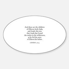 GENESIS 36:24 Oval Decal