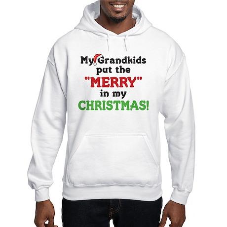 GRANDKIDS PUT MERRY IN CHRISTMAS Hooded Sweatshirt