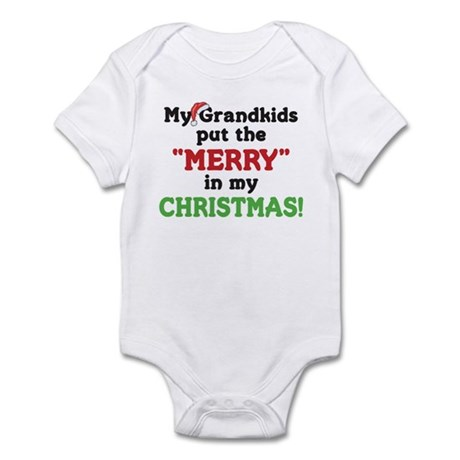 GRANDKIDS PUT MERRY IN CHRISTMAS Infant Bodysuit
