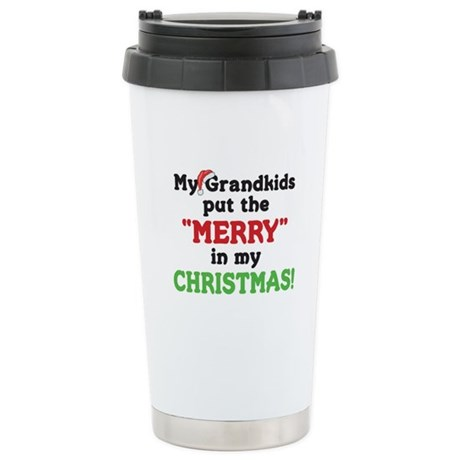 GRANDKIDS PUT MERRY IN CHRISTMAS Stainless Steel T