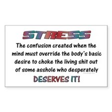 Stress! Rectangle Decal