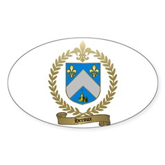 HEROUX Family Oval Sticker