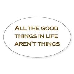 Things Oval Decal