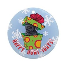 Holiday Kerry Blue Ornament (Round)