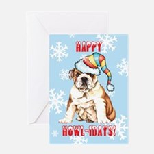 Holiday Bulldog Greeting Card