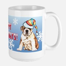 Holiday Bulldog Large Mug