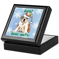 Holiday Bulldog Keepsake Box