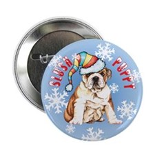 "Holiday Bulldog 2.25"" Button (10 pack)"