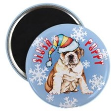 Holiday Bulldog Magnet