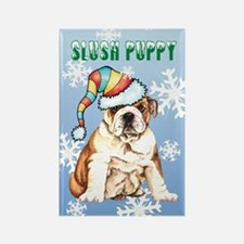 Holiday Bulldog Rectangle Magnet