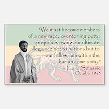 Haile Selassie Sticker (Rectangle)