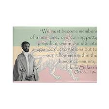 Haile Selassie Rectangle Magnet