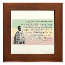 Haile Selassie Framed Tile