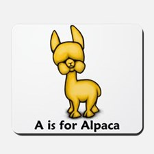 A is for Alpaca Mousepad