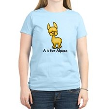A is for Alpaca T-Shirt