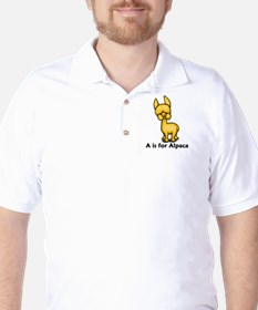 A is for Alpaca Golf Shirt