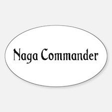 Naga Commander Oval Decal