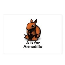 A is for Armadillo Postcards (Package of 8)