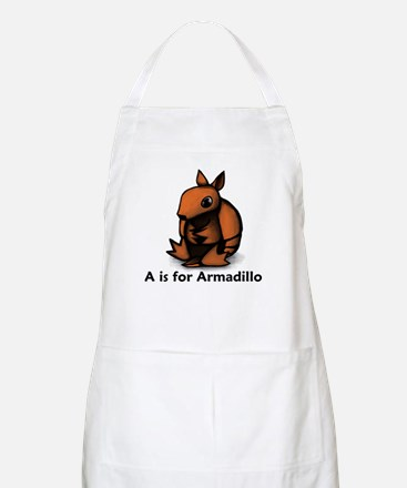 A is for Armadillo BBQ Apron