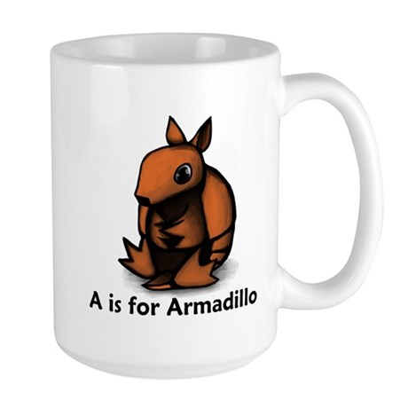 A is for Armadillo Large Mug