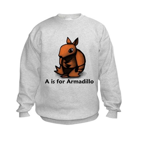 A is for Armadillo Kids Sweatshirt