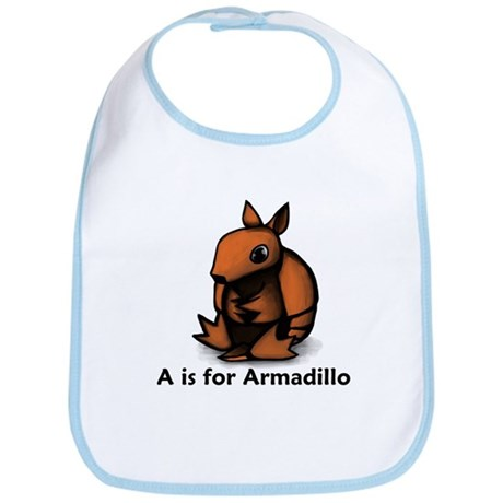 A is for Armadillo Bib