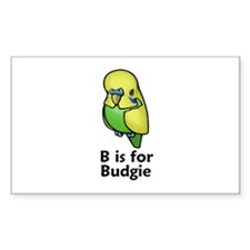 B is for Budgie Rectangle Decal