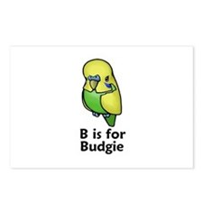 B is for Budgie Postcards (Package of 8)