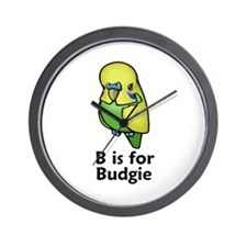 B is for Budgie Wall Clock