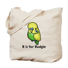 B is for Budgie Tote Bag