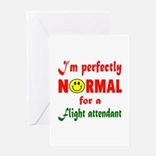 I'm perfectly normal for a Flight at Greeting Card
