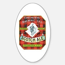 Scotch Ale Label Oval Decal