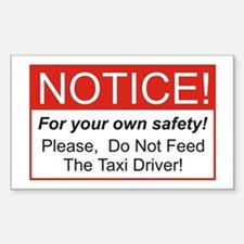 Notice / Taxi Driver Rectangle Decal