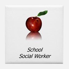 School Social Worker Tile Coaster