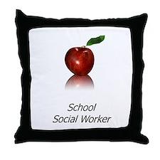 School Social Worker Throw Pillow