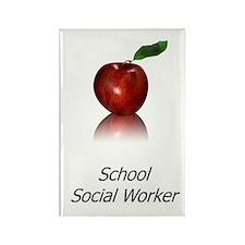 School Social Worker Rectangle Magnet