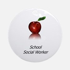 School Social Worker Ornament (Round)