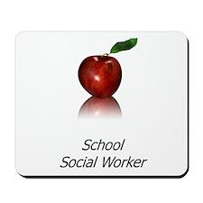 School Social Worker Mousepad