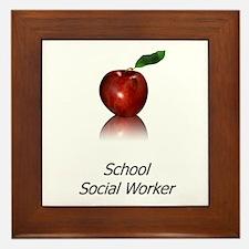 School Social Worker Framed Tile
