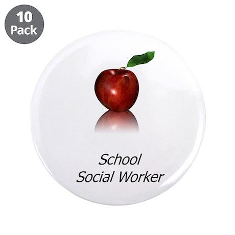 "School Social Worker 3.5"" Button (10 pack)"