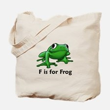 F is for Frog Tote Bag
