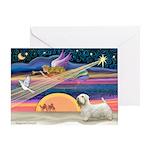 Xmas Star & Sealyham Greeting Card