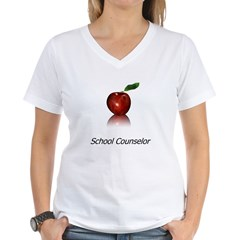 School Counselor Women's V-Neck T-Shirt