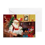 Santa & Sealyham Terrier Greeting Cards (Pk of