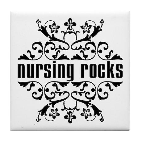Nursing Rocks Tile Coaster